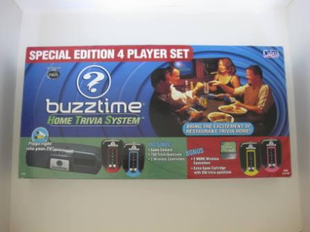 Buzztime Home Trivia System 4 Player Set - Plug & Play TV Game